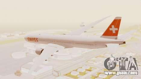 Boeing 777-300ER Swiss International Air Lines para GTA San Andreas left