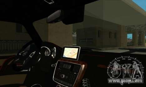 Mercedes G63 Biturbo para GTA San Andreas interior