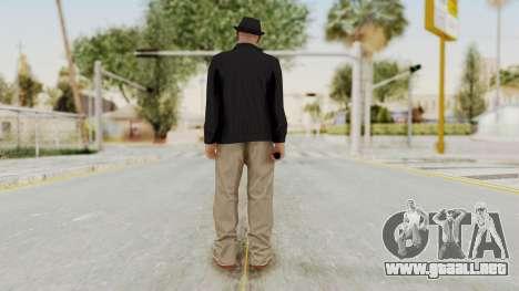 Walter White Heisenberg v1 GTA 5 Style para GTA San Andreas tercera pantalla