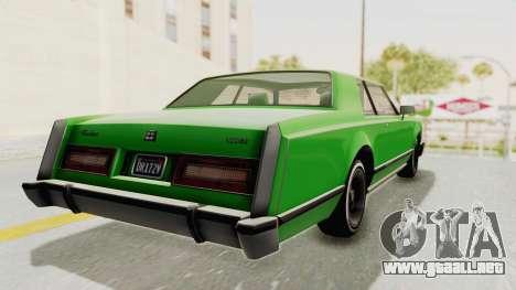 GTA 5 Dundreary Virgo Classic Custom v1 para GTA San Andreas left