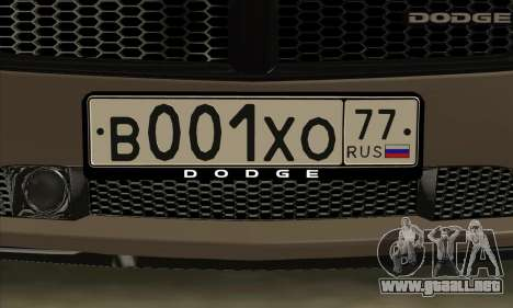 Dodge Charger para visión interna GTA San Andreas