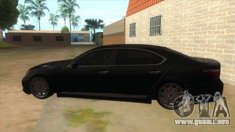 Lexus LS600HL 2008 para GTA San Andreas left