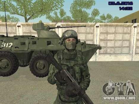 Modern Russian Soldiers pack para GTA San Andreas sucesivamente de pantalla