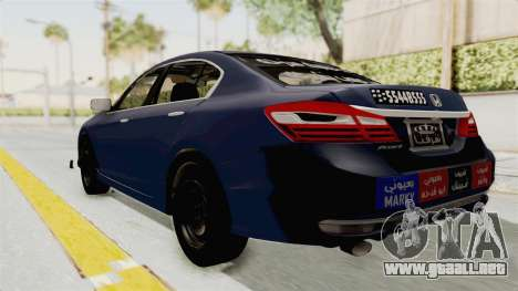 Honda Accord 2017 para GTA San Andreas left