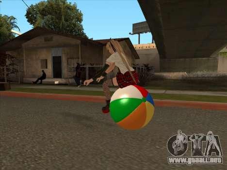 Beachball para GTA San Andreas vista hacia atrás