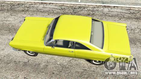 GTA 5 Ford Fairlane 500 1966 v1.1 vista trasera
