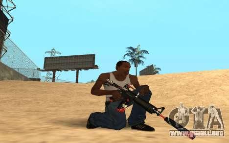 M4 Cyrex para GTA San Andreas segunda pantalla