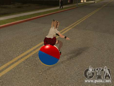Beachball para GTA San Andreas vista posterior izquierda