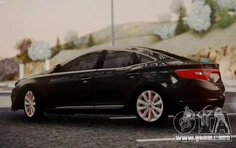 Hyundai Grandeur 2015 STOCK para la visión correcta GTA San Andreas