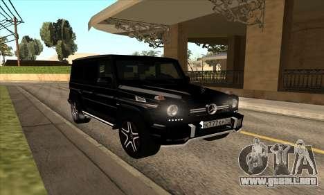 Mercedes G63 Biturbo para GTA San Andreas