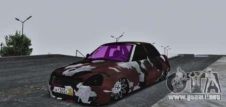 Lada Priora Camouflage para GTA San Andreas