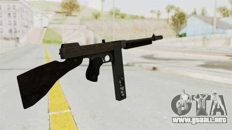 GTA 5 Gusenberg Sweeper Custom para GTA San Andreas segunda pantalla