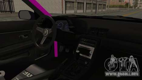 Nissan Skyline R32 Drift Monster Energy Falken para visión interna GTA San Andreas