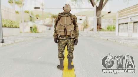 COD Black Ops Russian Spetznaz v6 para GTA San Andreas tercera pantalla