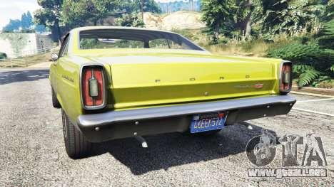 GTA 5 Ford Fairlane 500 1966 v1.1 vista lateral izquierda trasera