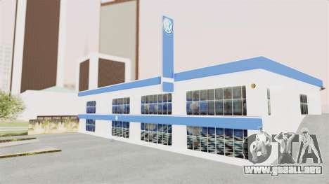 Volkswagen Showroom in San Fierro para GTA San Andreas