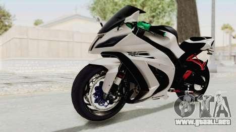 Kawasaki Ninja ZX-10R Modification para la visión correcta GTA San Andreas