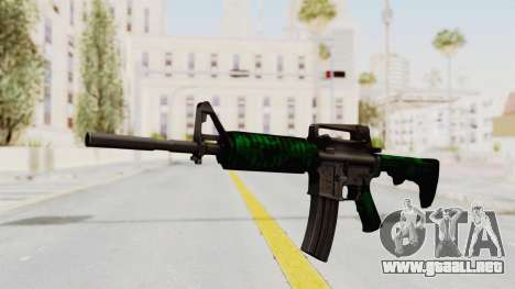 HD M4 v4 para GTA San Andreas segunda pantalla