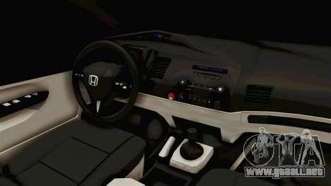 Honda Civic FD6 para visión interna GTA San Andreas