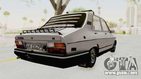 Dacia 1310 TX 1986 para GTA San Andreas vista posterior izquierda