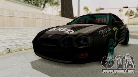 Toyota Celica GT Drift Monster Energy Falken para la visión correcta GTA San Andreas