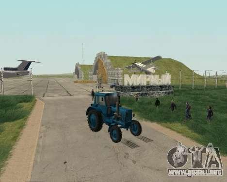 MTZ 80 Bielorrusia para la visión correcta GTA San Andreas