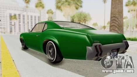 GTA 5 Declasse Sabre GT2 para GTA San Andreas left
