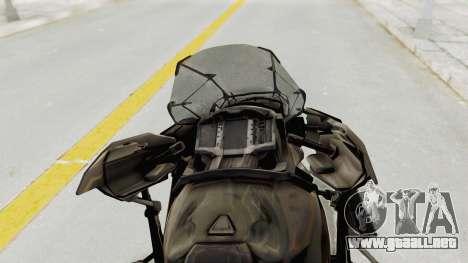 CoD Advanced Warfare - Hover Bike para GTA San Andreas vista hacia atrás