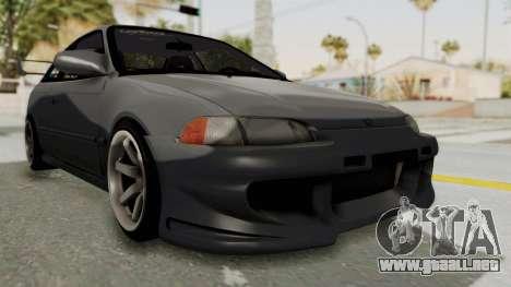 Honda Civic 1995 FnF para la visión correcta GTA San Andreas
