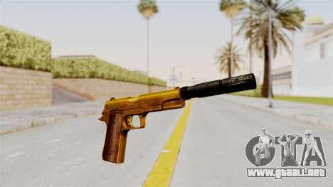 Silenced M1911 Gold para GTA San Andreas segunda pantalla