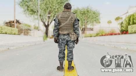 COD BO Russian Spetznas Flak MP v3 para GTA San Andreas tercera pantalla