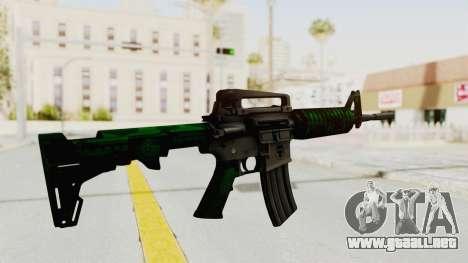 HD M4 v4 para GTA San Andreas tercera pantalla