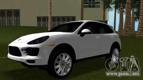 Porsche Cayenne 2012 para GTA Vice City vista interior
