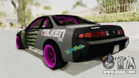 Nissan Silvia S14 Drift Monster Energy Falken para GTA San Andreas left
