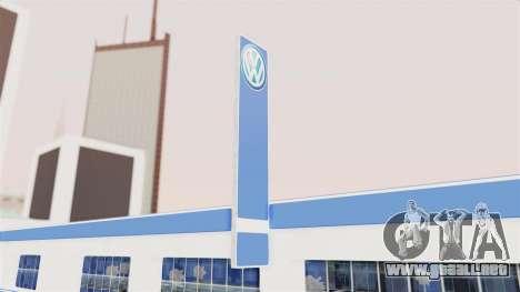 Volkswagen Showroom in San Fierro para GTA San Andreas tercera pantalla