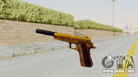 Silenced M1911 Gold para GTA San Andreas tercera pantalla