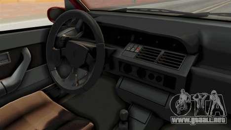Renault Clio Williams para visión interna GTA San Andreas