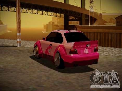 BMW M3 E36 Pinkie Pie para la vista superior GTA San Andreas