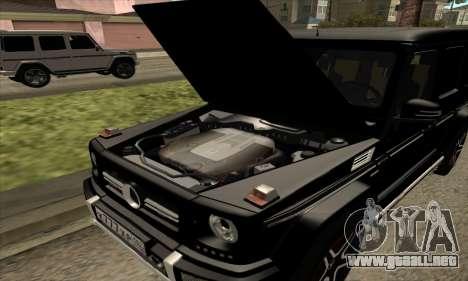 Mercedes G63 Biturbo para la vista superior GTA San Andreas