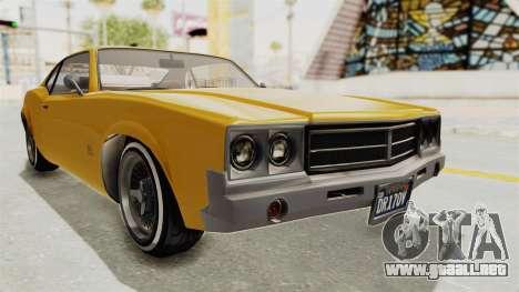 GTA 5 Declasse Sabre GT2 A IVF para la visión correcta GTA San Andreas