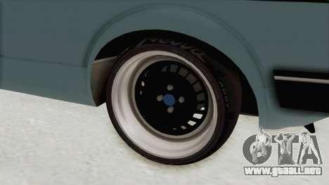 Volkswagen Golf 1 Cabrio VR6 para GTA San Andreas vista hacia atrás