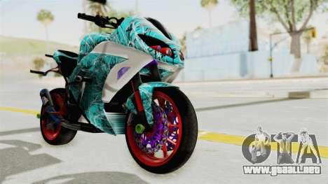 Kawasaki Ninja 250FI Stunter para la visión correcta GTA San Andreas