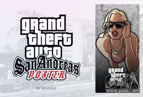 Poster GTA San Andreas HD para GTA San Andreas segunda pantalla