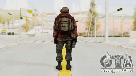 Battery Online Russian Soldier 9 v1 para GTA San Andreas tercera pantalla