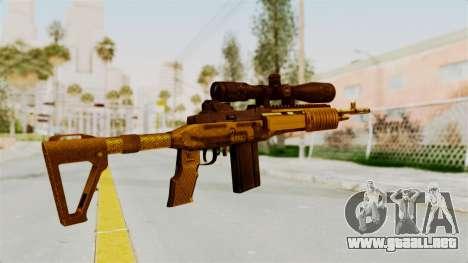 M14EBR Gold para GTA San Andreas segunda pantalla