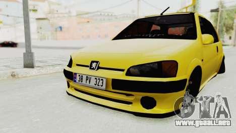 Peugeot 106 para la visión correcta GTA San Andreas