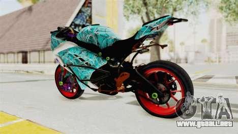 Kawasaki Ninja 250FI Stunter para GTA San Andreas left