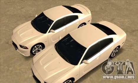 Dodge Charger para vista lateral GTA San Andreas