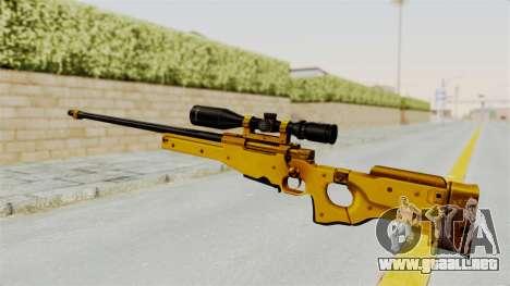 L96A1 Gold para GTA San Andreas segunda pantalla