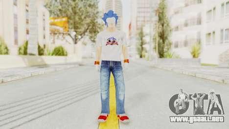 Sonic Man para GTA San Andreas segunda pantalla